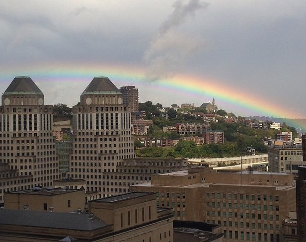 Rainbow Over Mount Adams cincinnati