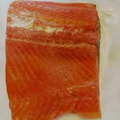 orange, salmon, fish, lox, food, cuisine, smoked salmon,