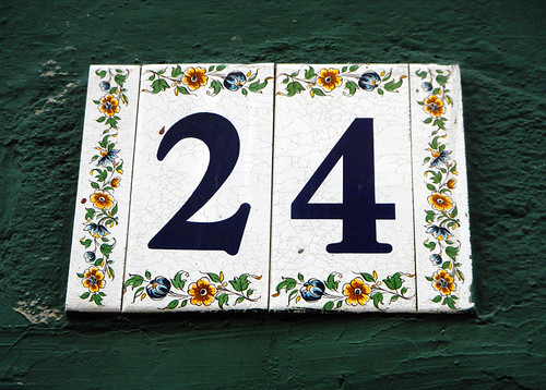 No. Twenty-Four on Spanish Tiles