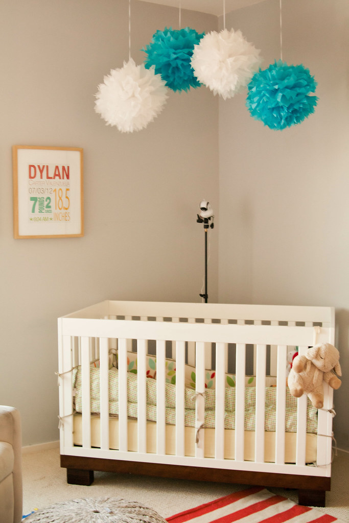cute & little blog | motorola MBP36S baby monitor | nursery crib setup #motorolababymonitor