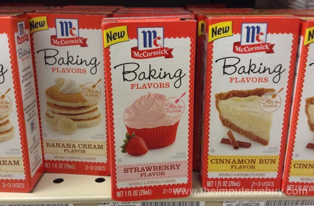 McCormick Baking Flavors (Banana Cream, Strawberry, and Cinnamon Bun)