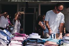 Sorting through shirts