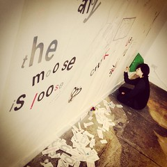 """Come and draw on the wall @ #YAGgen @YAGmcmanus """"...Life Is A Test"""" exhibition #GenArtScot #Generation"""