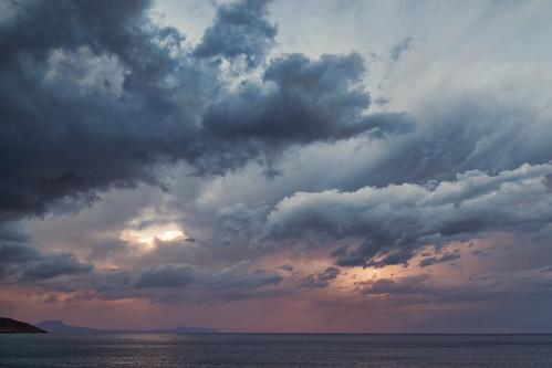 sunset sea sky clouds crete rethymno κρήτη σύννεφα θάλασσα ρέθυμνο ουρανόσ
