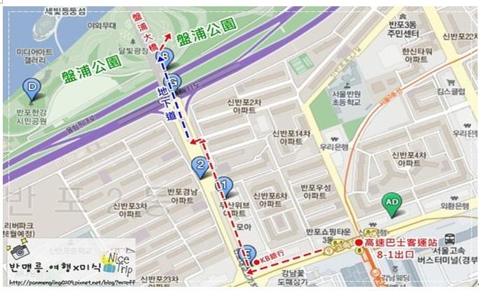盤浦大橋地圖