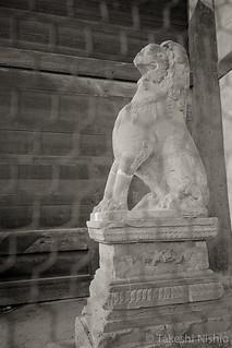 Guardian Lion, left