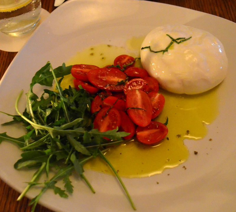 Burrata with Tomatoes and Rocket
