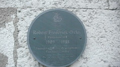 Photo of Robert Frederick Oxley slate plaque