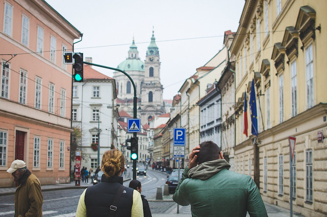 A walk through the colorful streets of Prague.