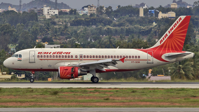 Air India A319 VT-SCW