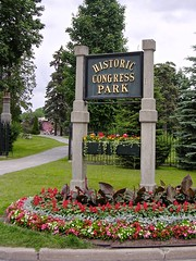 Sign for Congress Park, Saratoga Springs, NY, KW