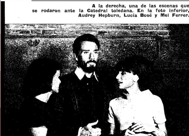 Audrey Hepburn y Mel Ferrer en Toledo. Fotografía publicada el 17 de octubre de 1964. Blanco y Negro
