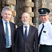 Justice Minister David Ford is pictured with Barclay Bell, Deputy President UFU and PSNI Assistant Chief Constable Alan Todd at Crumlin Road Gaol Belfast which hosted the conference.
