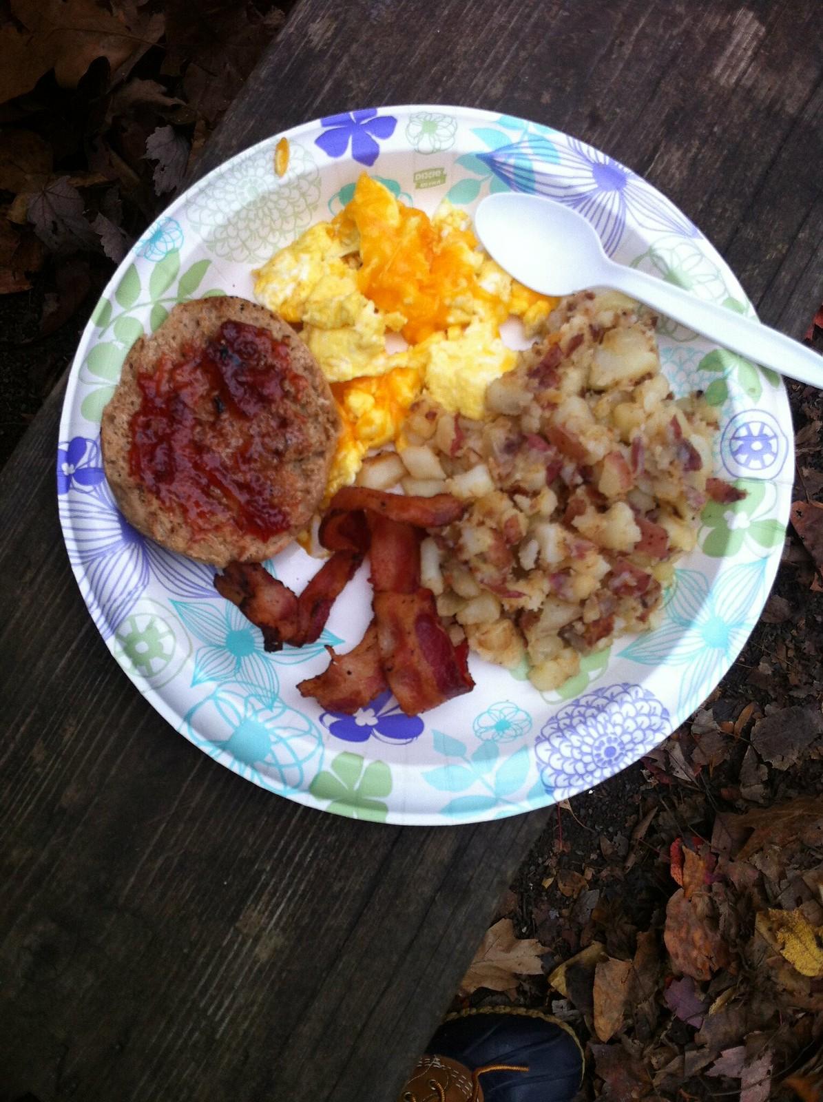 camping breakfast!