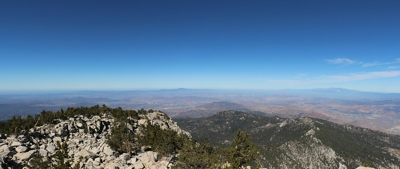 View west from the Folly Peak Summit. Also great views of Fuller Ridge.