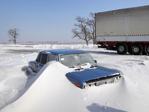 Дорога сніг