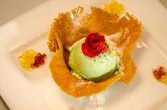 Green Tea Ice Cream in Caramel Tuile KCI_4182