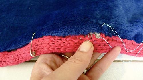 Big knit blanket