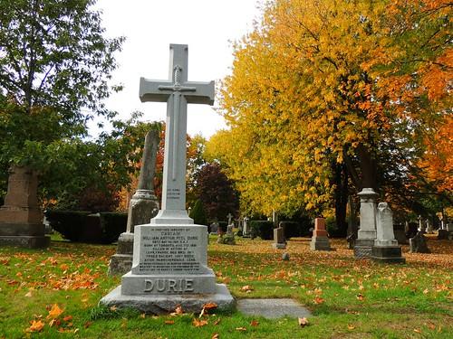 Lest We Forget .... Captain William Arthur Peel Durie Gravesite (Section 8 / Plot 36) .... St James Cemetery, Toronto, Ontario