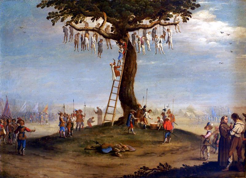 Jacques Callot, Die Gräuel des Krieges / Der Galgenbaum (Scene from the Grandes Misères de la Guerre)