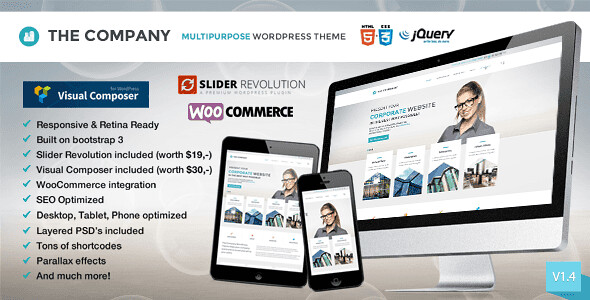 The Company WordPress Theme free download