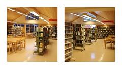 Kollasjer Veggli før og etter fra inngangen