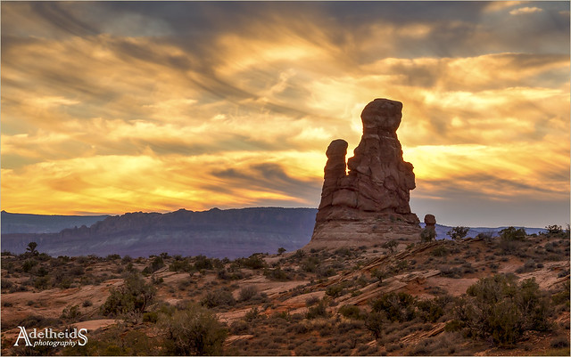 Sunset at Arches NP, USA