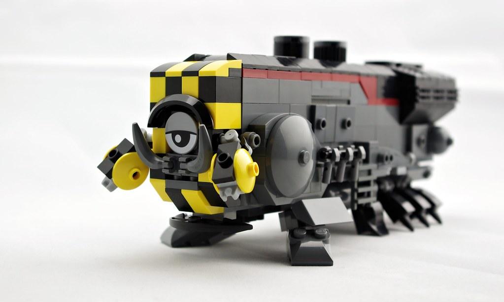 Maximillian the Mighty Mech-Engine (custom built Lego model)