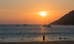 Sunset on the beacn with yachts and catamarans. Phuket               AD4A5550s