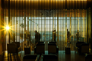 Buenos Aires: sunrise at the Latam VIP lounge, Ezeiza airport