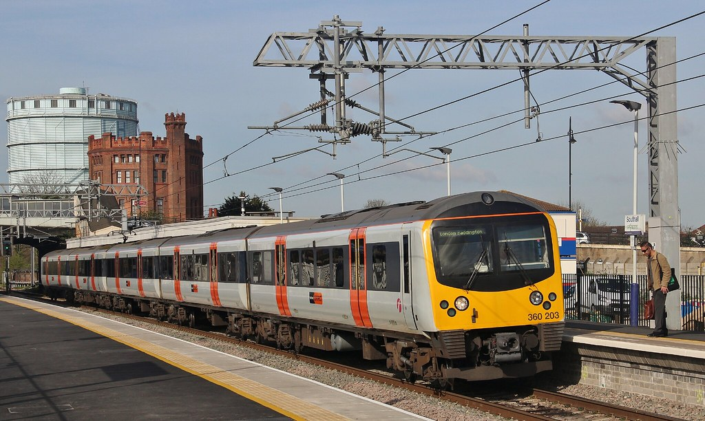 Heathrow Connect Desiro Unit 360203, Southall, 5th. April 2017 by Crewcastrian