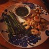 Lime cilantro shrimp & asparagus...