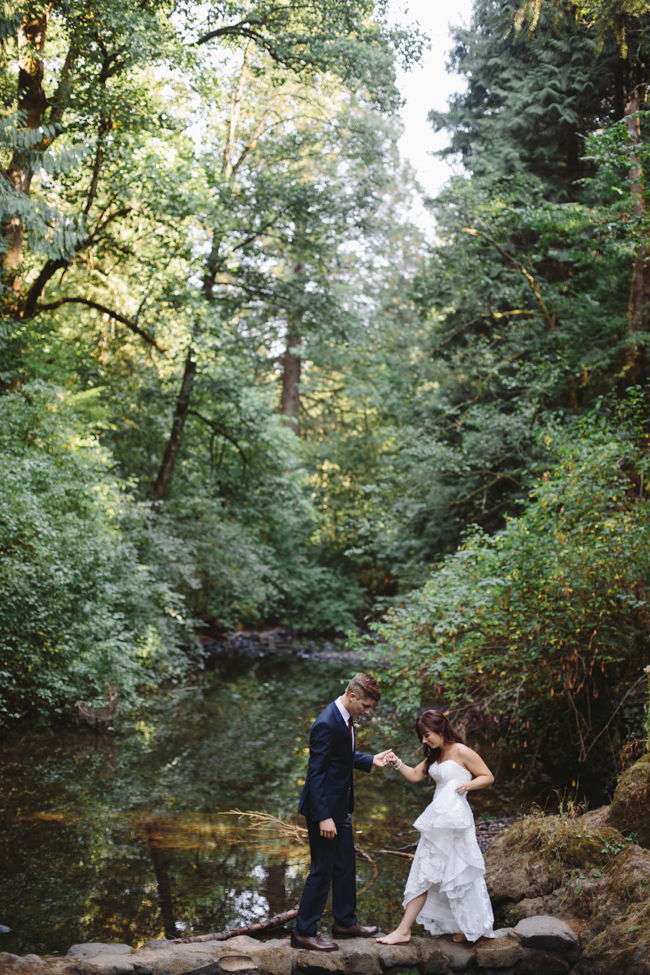portland leach botanical garden wedding, woodsy botanical wedding, portland wedding photographer