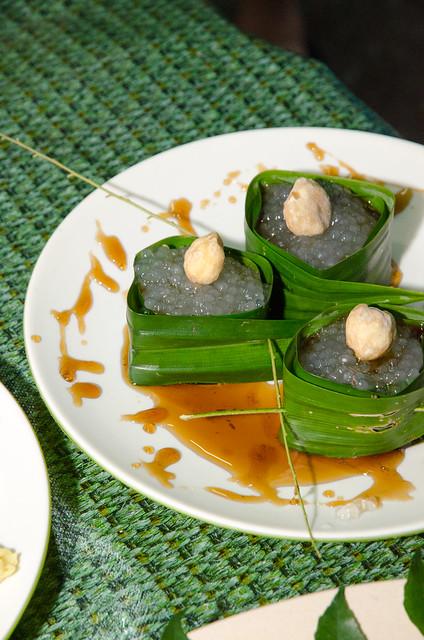 Sago dessert with gula Melaka