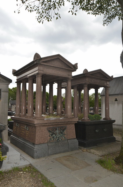 At the wonderful Pere-Lachaise Cemetery: ancient temple-like tombs