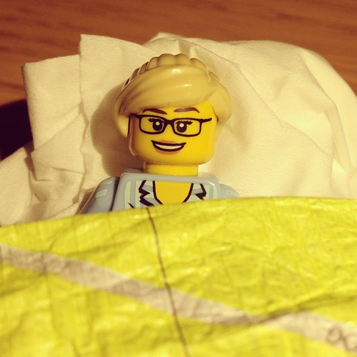 Mini lego me takes a nap after all the travel excitement!