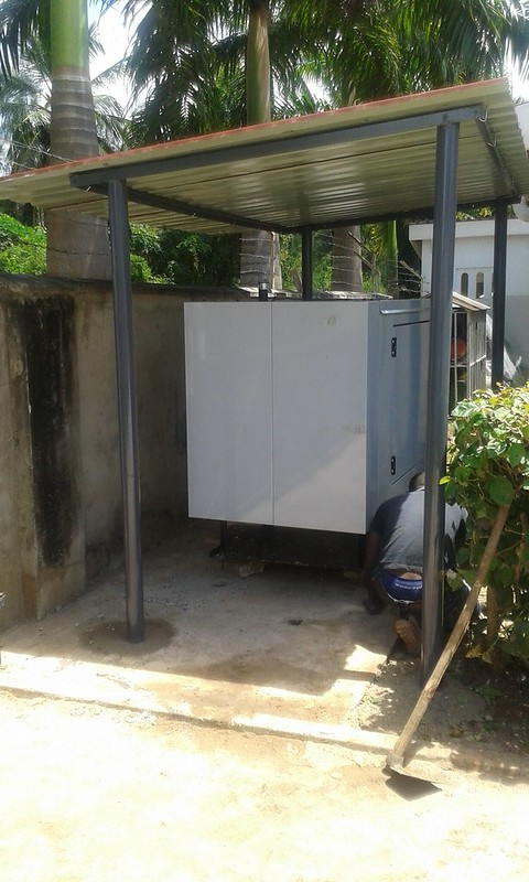 Generator in place