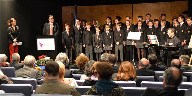 Joan Burgues i Martisella presentant la cerimònia