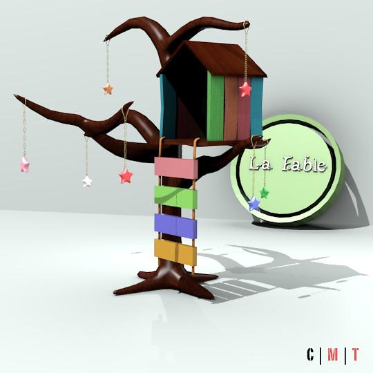~*~La Fable~*~ House, Tree, Stars