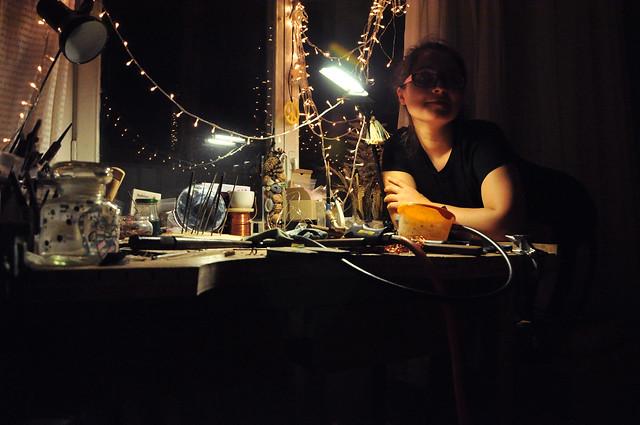 autumn evenings in my studio