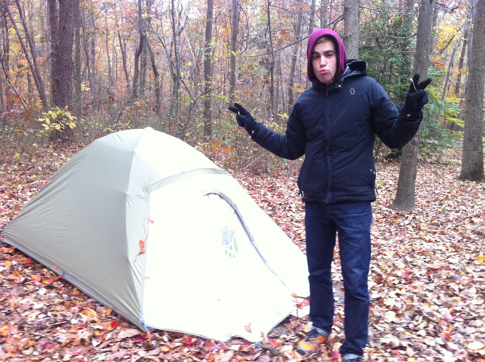Nils and his manly tent