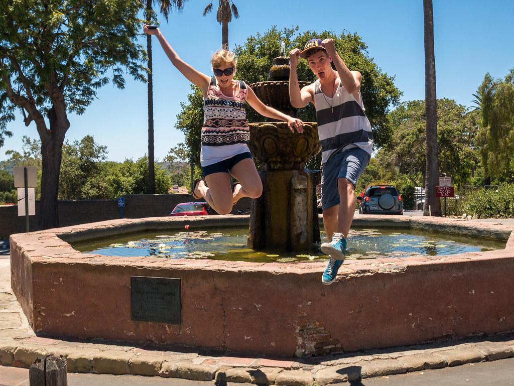 Jump At Santa Barbara Mission Markus Breiter Flickr