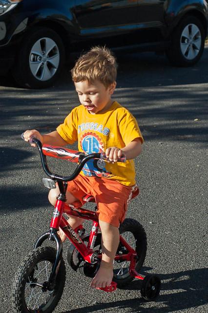 Noah riding bike