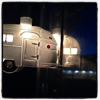 Reflections of an airstream in the airstream. #airstream #airstreamdc2cali #vintageairstream #1964 #overlander