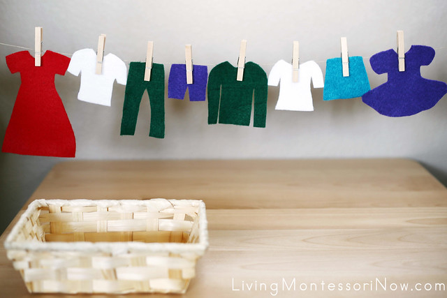 Felt Clothing and Clothes Hanging Activity