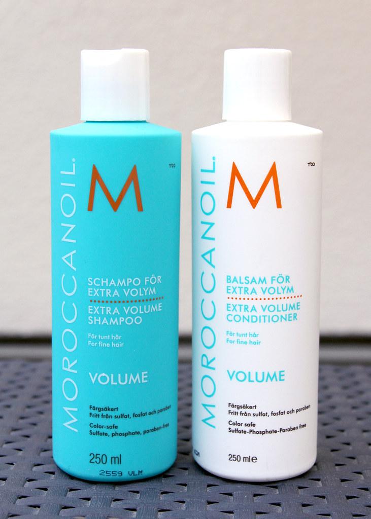 Moroccanoil extra volume shampoo & condtioner