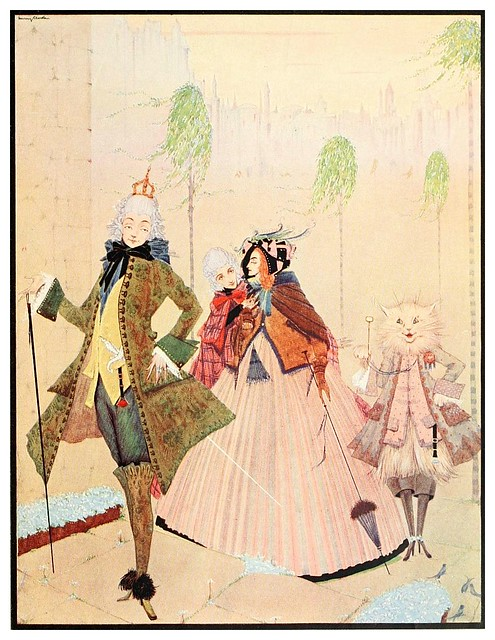 016- El gato con botas-The fairy tales of Charles Perrault-1922- Harry Clarke