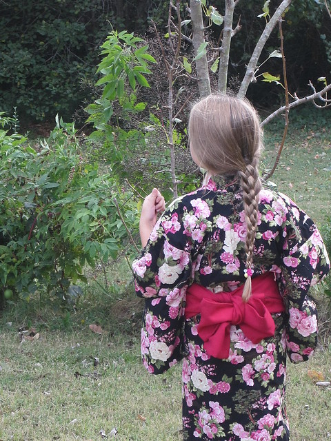 Black and Rose Yukata