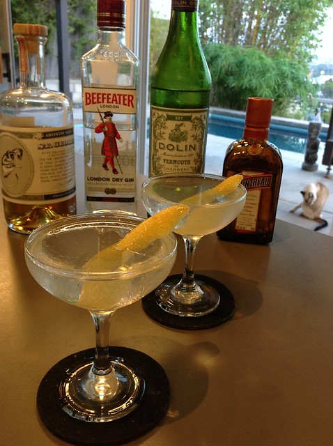 Joy Division (Phil Ward) with Beefeater gin, Dolin dry vermouth, Cointreau, St. George absinthe