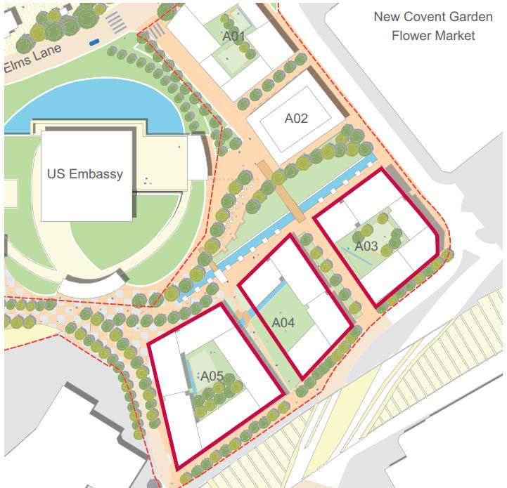 Embassy Gardens Nine Elms Uc Skyscrapercity - Us-embassy-london-map